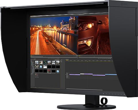 Video editing monitors for media designers and cutters
